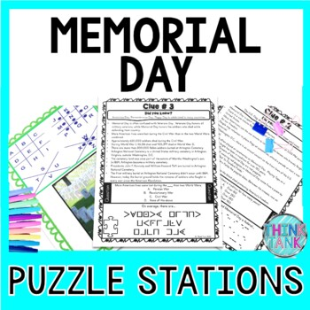 Memorial Day PUZZLE STATIONS - Fun Facts   Tomb of Unknown Soldier