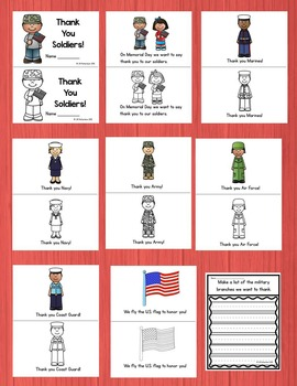 Memorial Day or Veterans Day Emergent Reader!