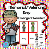Veterans Day Activities Emergent Reader