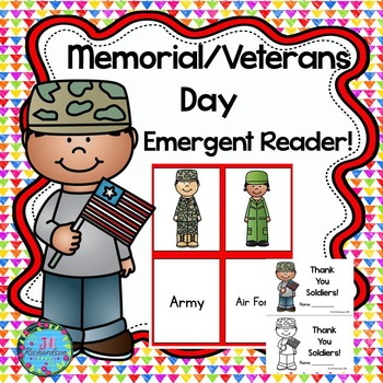 Memorial Day or Veterans Day Emergent Reader!