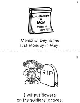 Memorial Day Emergent Reader