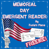 Memorial Day Emergent Reader FREEBIE!