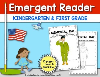 Memorial Day {Emergent Reader} for Kindergarten & First Grade