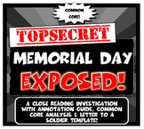 Memorial Day Exposed:Lesson Plan with Graphic Organizer & Letter to Soldier