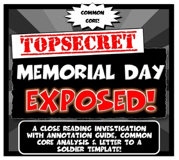 Memorial Day Exposed:Lesson Plan with Graphic Organizer &