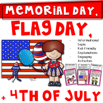Memorial Day and More! Bundle {Flag Day & 4th of July Too-1st/2nd/3rd Grade}