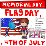 Memorial Day and More! {Flag Day & 4th of July Too-1st/2nd