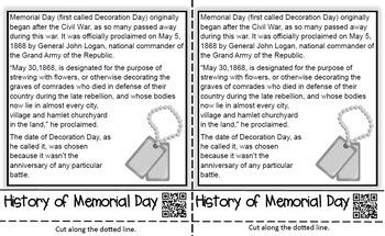 Memorial Day Flip Book: An Interactive Activity for Grades 2-5