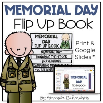 Memorial Day Flip Up Book
