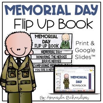 Memorial Day Flip Up Book