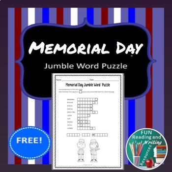 Memorial Day Free - Jumble