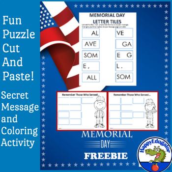 Memorial Day Free - Letter Tiles
