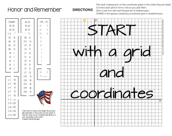 Graphing Activity - Patriotic, Veteran's Day, Memorial Day, September 11