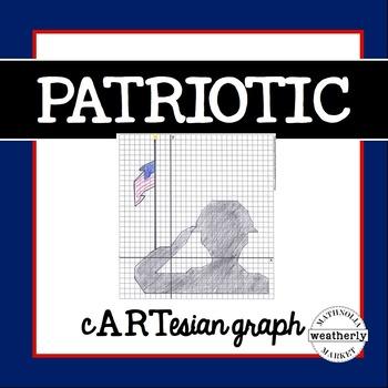 Graphing Activity - Patriotic, Veteran's Day, Memorial Day, September 11