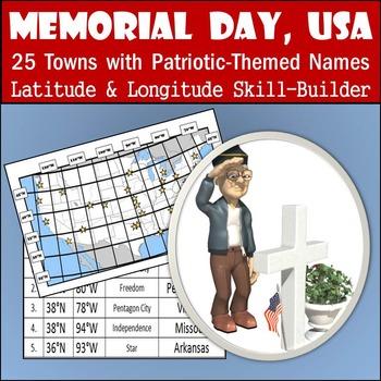 Latitude & Longitude Worksheet - Memorial Day, USA