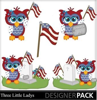 Memorial Day Girl Owls