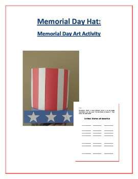 Memorial Day Hat: Memorial Day Art Activity