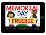 Memorial Day Interactive Digital Notebook FREEBIE