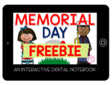 Memorial Day Interactive Digital Notebook FREEBIE