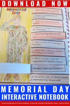 Memorial Day Activities, Interactive Notebook, Memorial Day Craftivity