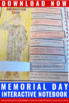 Memorial Day Activities, Social Studies Interactive Notebook Craftivity