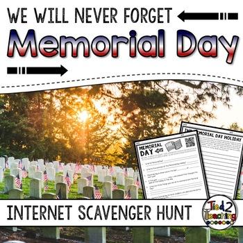 Memorial Day - Internet Scavenger Hunt