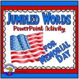 Memorial Day Jumbled Words PowerPoint Game