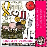 Memorial Day clip art - LINE ART- by Melonheadz