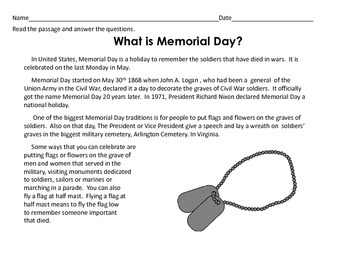 Memorial Day Mini-Unit