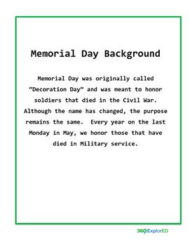 Memorial Day Lesson Plan: 360°ExplorEd