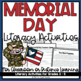 Memorial Day Literacy Activities   Distance Learning