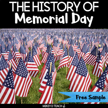Memorial Day Literacy Activity Pack FREE SAMPLE