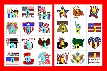 Memorial Day Activities: Literacy & Math Centers-Alphabet and Counting to 20