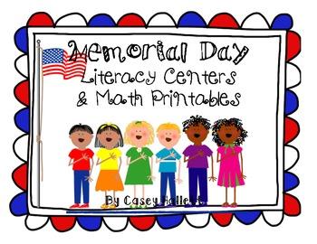 Memorial Day {Literacy Centers & Math Printables Bundle}