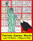Memorial Day Activities: Sight Words Card Games & Memory - Set 2 of 2