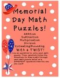 Memorial Day MATH puzzles! Grade 3