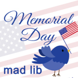 Memorial Day Mad Lib *interactive distance learning google