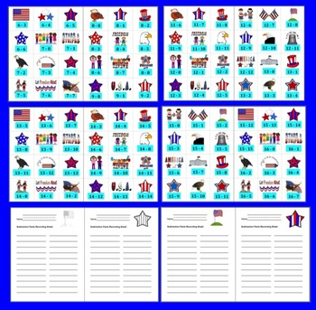 Memorial Day Math Activities & Centers: Patriotic Subtraction Activities
