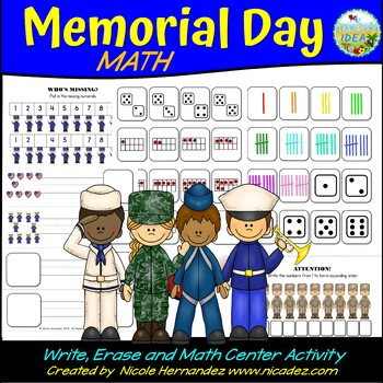 Memorial Day Math Practice - {Numbers 1 to 10}