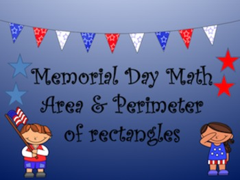 Memorial Day Math Perimeter and Area