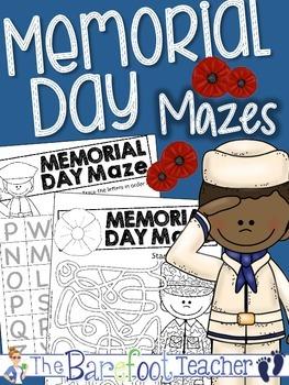 Memorial Day Mazes {Alphabet, Number, & Fun Mazes}