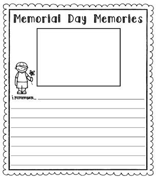 Memorial Day Writing Template