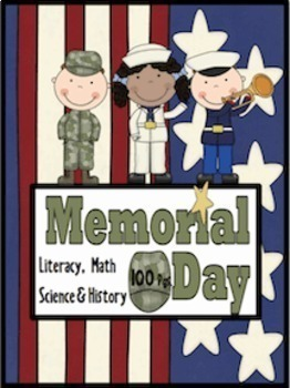Memorial Day & Military Literacy, Math, Glyph, Craftivies