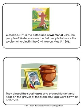 Memorial Day Mini Book of Facts for Kids