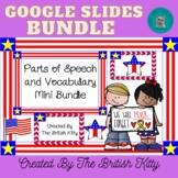 Memorial Day Mini Parts of Speech and Vocab Bundle Google Slides 2nd 3rd Grade