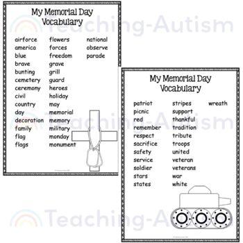 Memorial Day No Prep Word Search