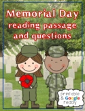Memorial Day Nonfiction Close Reading Comprehension Passage and Questions