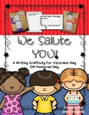 Memorial Day {OR Veterans Day} Writing and Craft {K/1}