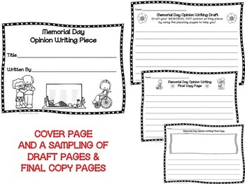 Memorial Day Opinion Writing Piece Pack--Common Core Aligned