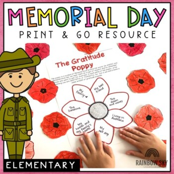 Memorial Day Activity Pack Grades 3 - 6